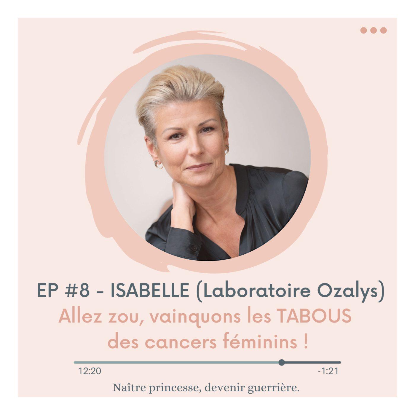EP#8 - ALLEZ ZOU, VAINQUONS LES TABOUS DES CANCERS FÉMININS. ISABELLE GUYOMARCH (Laboratoire Ozalys).